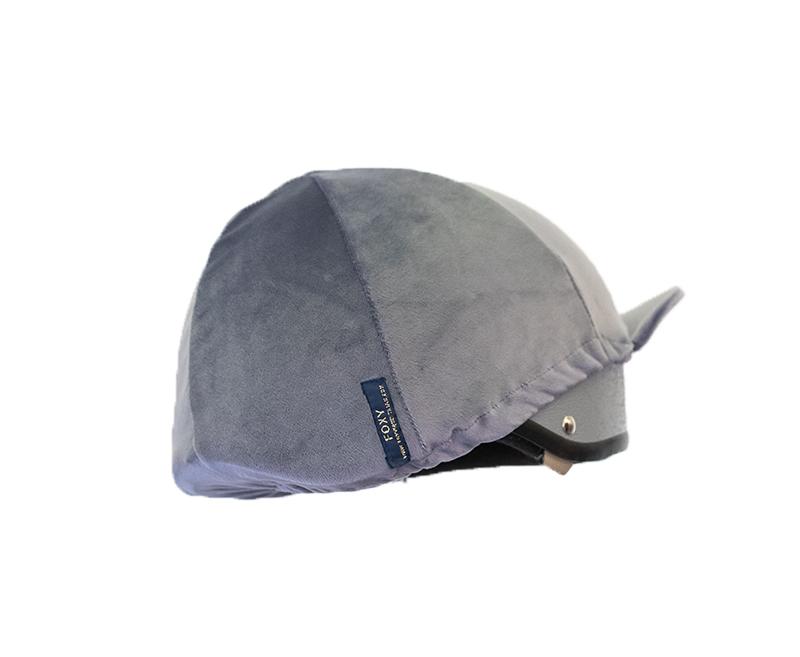 Grey Velvet Hat Silk Foxy Equestrian